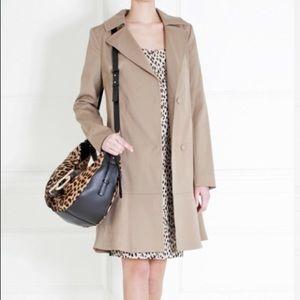Diane Von Furstenberg Kadence XS Tan Trench Coat
